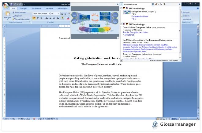 Glossarmanager - 3. Glossare durchsuchen